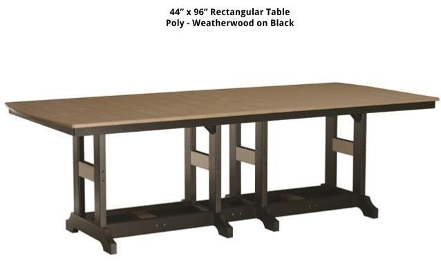 Tables stoltzfus outdoor living easton for Z table 99 percent