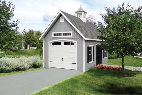 Elite sheds standard features stoltzfus outdoor living for 12x14 garage door