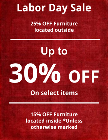 Labor day weekend sale stoltzfus outdoor living easton for Labor day couch sale