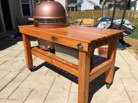 Copper Grill Dome With Table