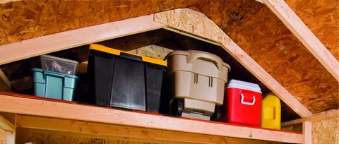 How to maximize your shed space stoltzfus outdoor living for Maximize garage storage